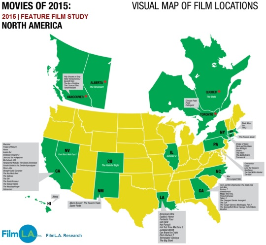 Feature Film Study 2015 North America Film Locations