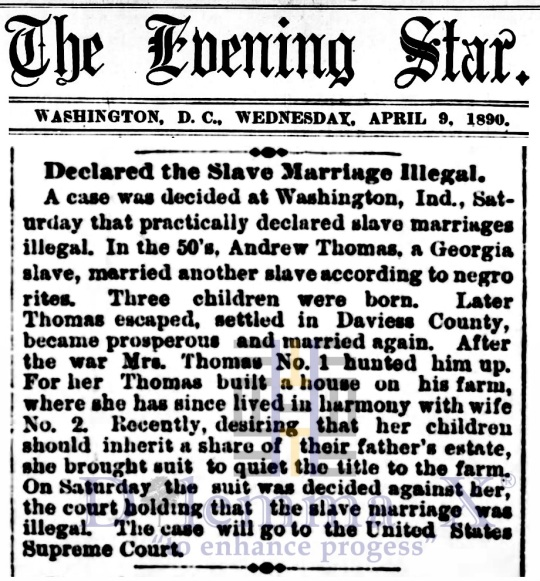Marriages- Enslaved Africans 1890