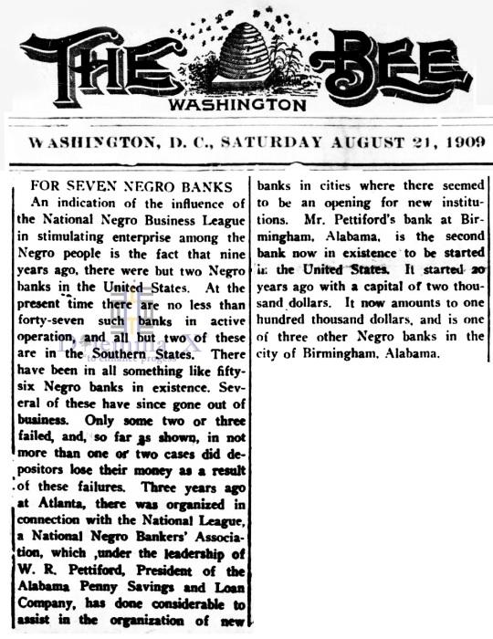 Black Banks August 1909
