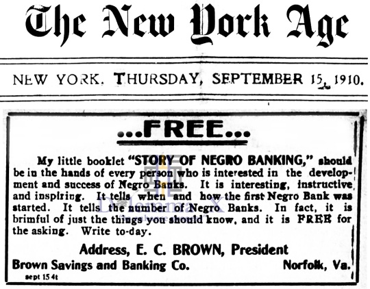 Black Banks August 1910