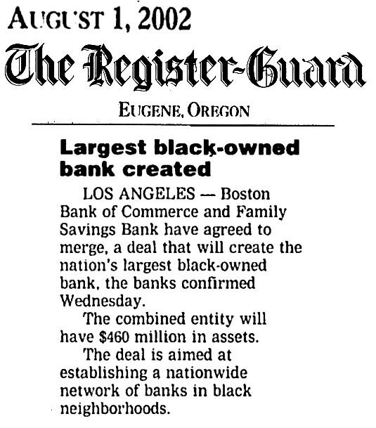 Black Banks August 2002