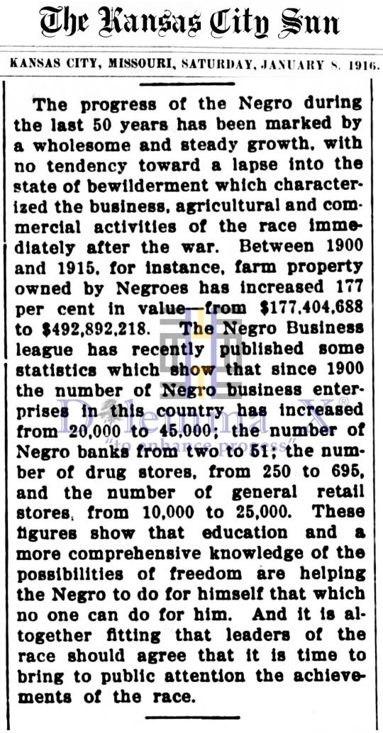 Black Banks January 1916