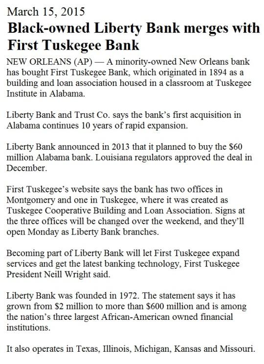 Black Banks March 2015
