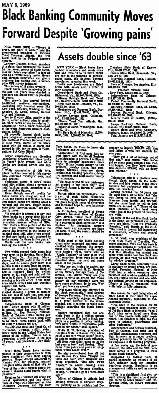 Black Banks May 1969