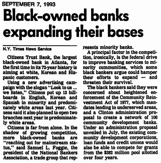 Black Banks September 1993