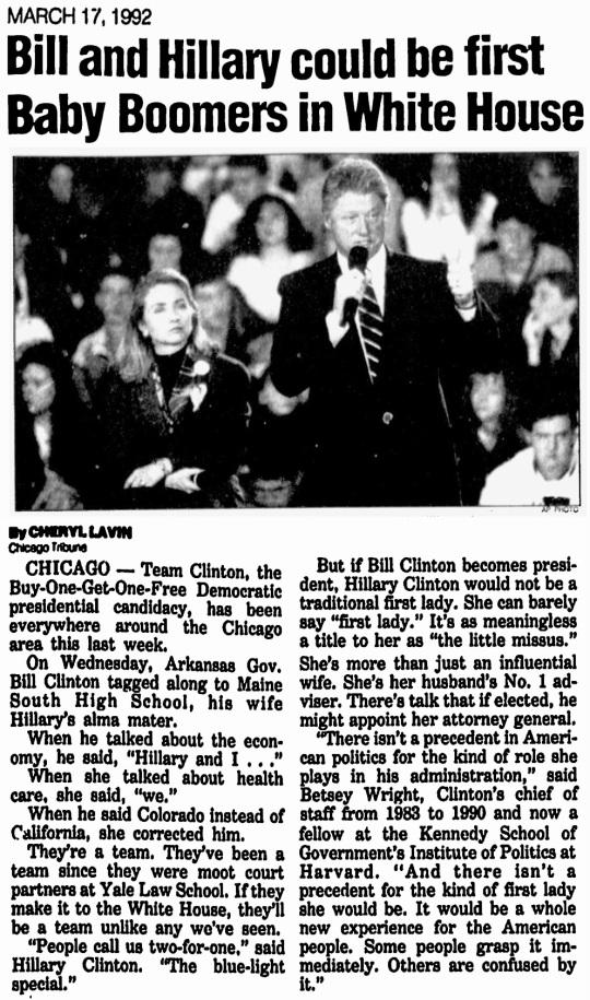 Clintons 1992