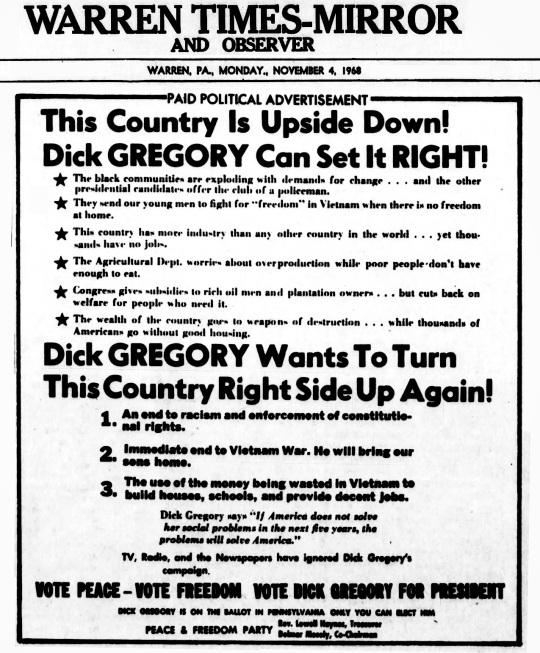 Election Results Nov 4-1968