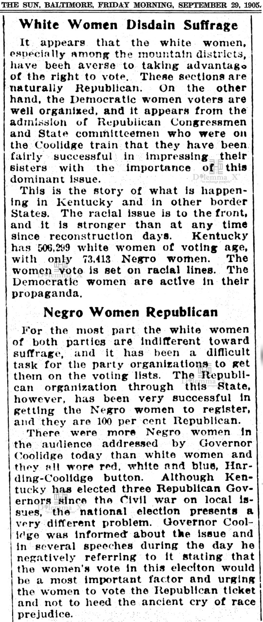 1920-october White Women's Suffrage Racism History
