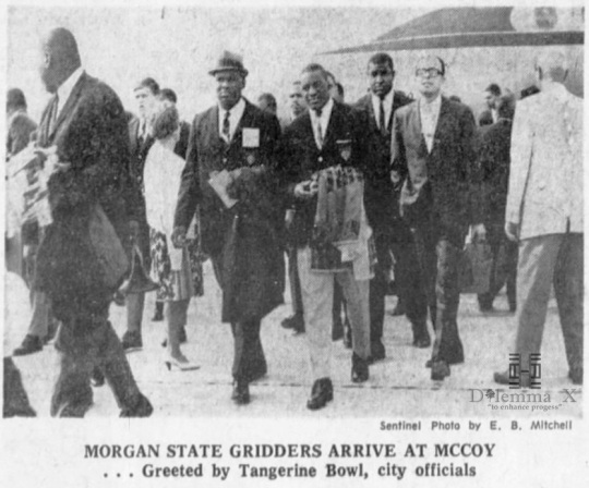 tangerine-bowl-1966 Morgan State University Football Team In Orlando
